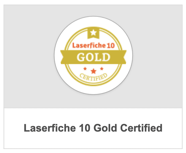 Laserfiche Gold Certification